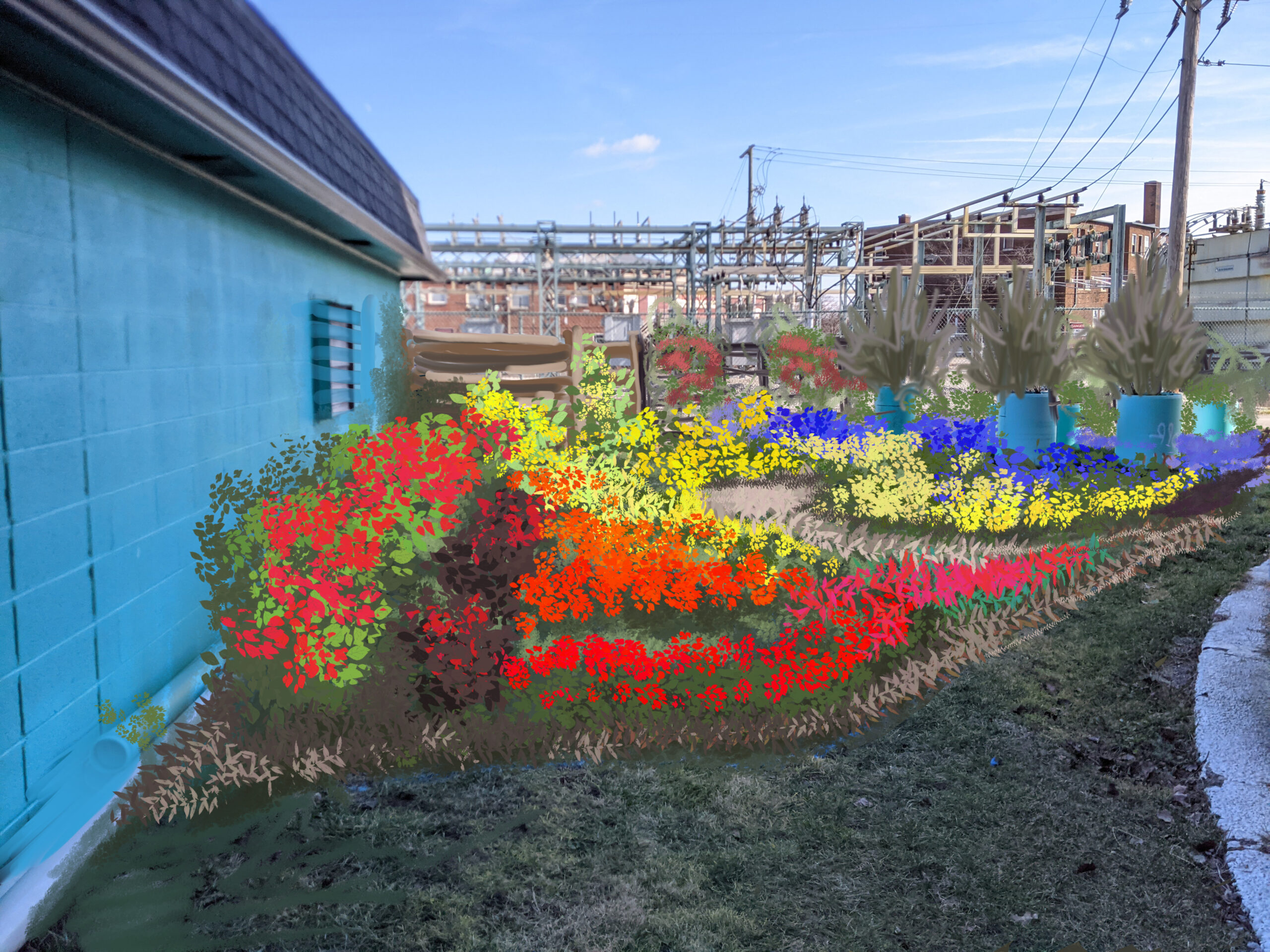 inside view garden color